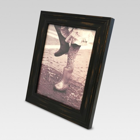 8x10 Distressed Wood Frame Black Threshold Target