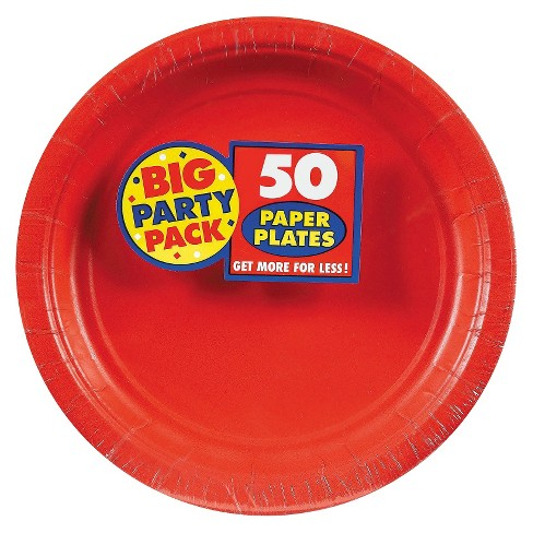 50ct Red Dessert Plate - image 1 of 1