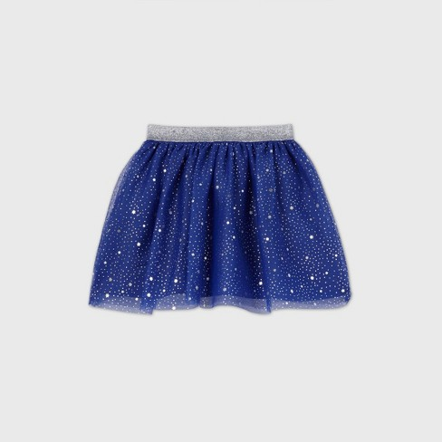Girls' Star of David Tutu Skirt - Cat & Jack™ Blue - image 1 of 2