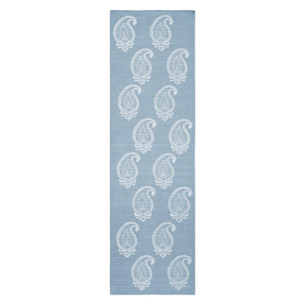 2'3X8' Paisley Woven Runner Soft Blue - Momeni