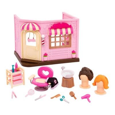 Li'l Woodzeez Store Playset with Accessories 20pc - Baabaa Spa & Hair Salon