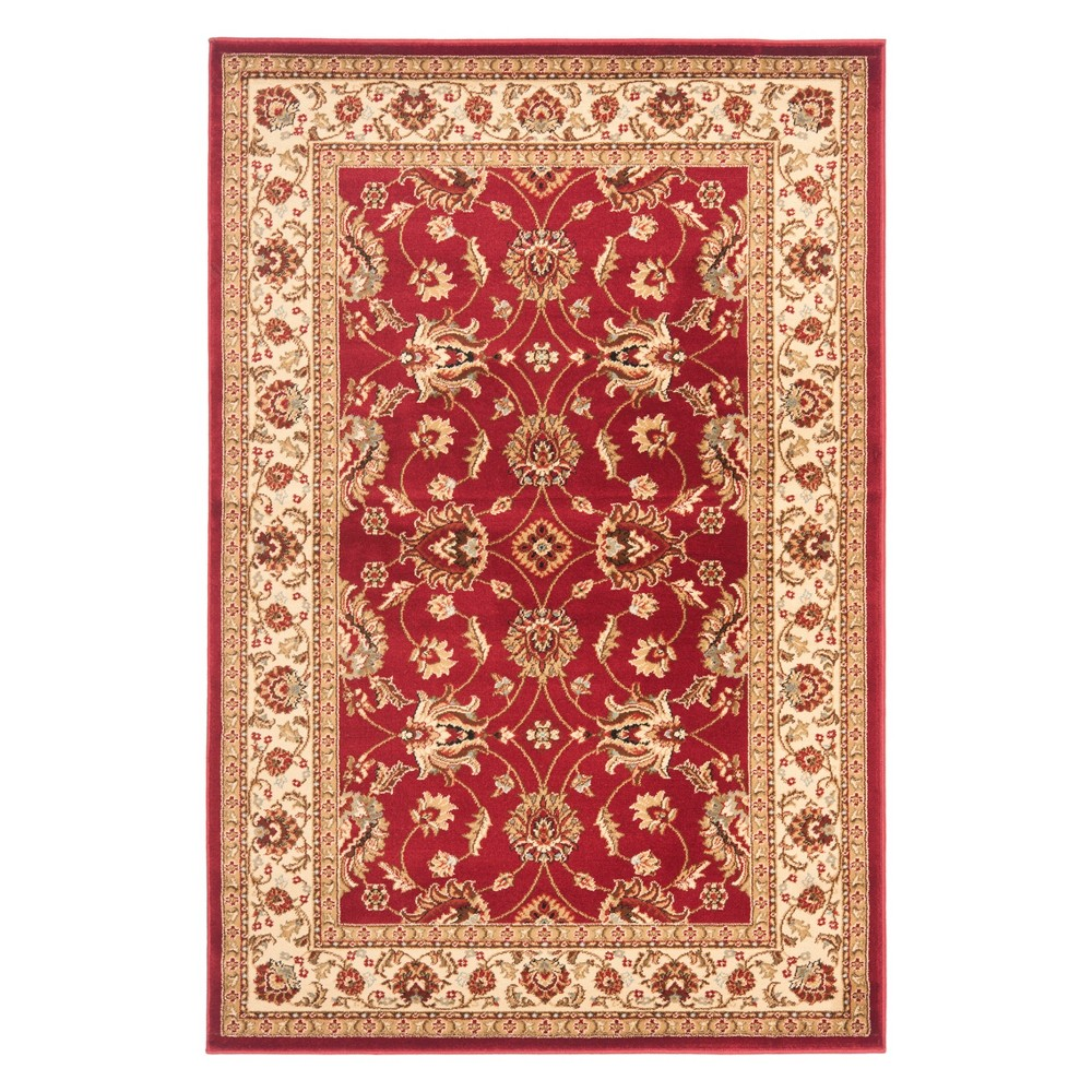 33X53 Floral Loomed Accent Rug Red/Ivory - Safavieh Best