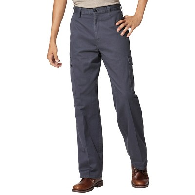Dickies Men's Loose Straight Fit Cotton Cargo Work Pants- Charcoal 36x32, Grey