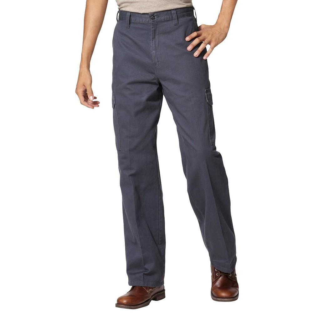 Image of Dickies Men's Big & Tall Loose Fit Cargo Work Pants - Charcoal 44x32, Men's, Grey