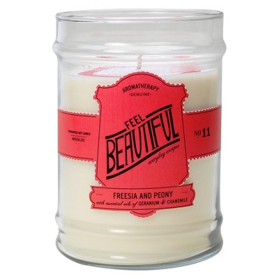16.2oz Glass Jar Candle Feel Beautiful - Aromatherapy