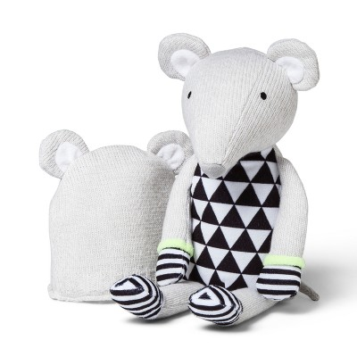 Plush and Hat Mouse - Cloud Island™ Gray