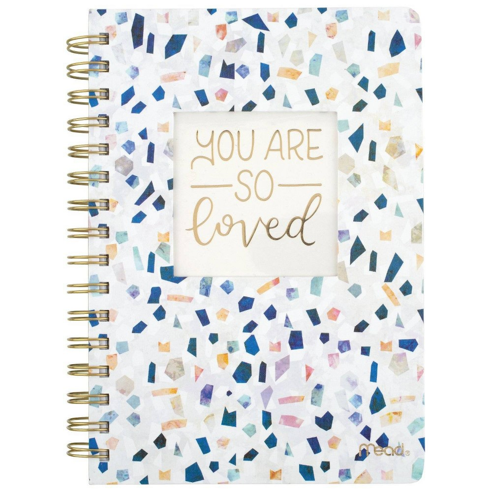 Mead Harder Cover Lined Journal Multicolor Geo Shapes, Multi-Colored