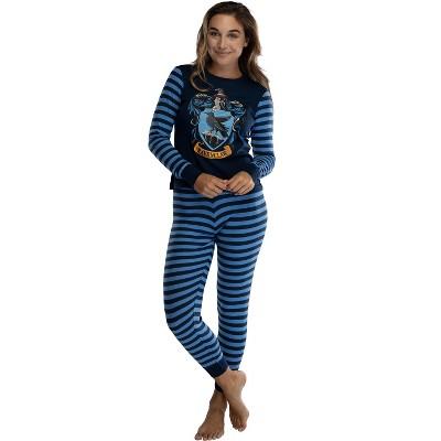 Harry Potter Hogwart's House Crest Tight Fit Adult Cotton Women's Pajama Set