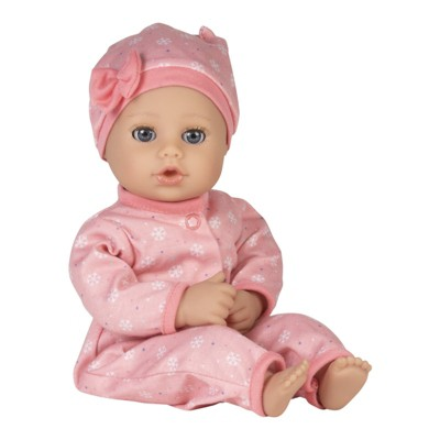 Adora Playtime Baby Doll Cozy Snowflake, 13 inch Soft Doll, Open/Close Eyes, Best Baby Girl Gift for Age 1+