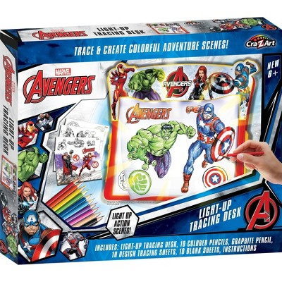 Cra-Z-Art Marvel Avengers Light Up Tracing Pad