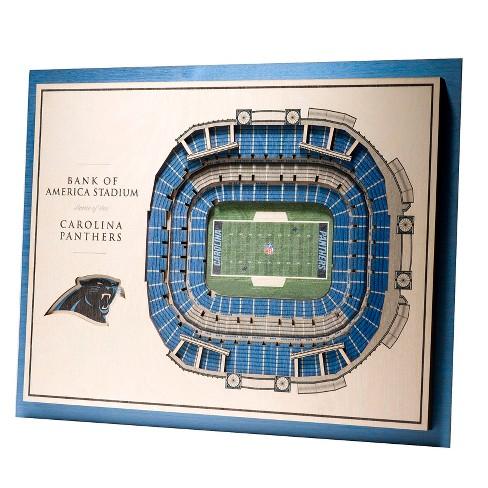 989fb95017e NFL Carolina Panthers 5-Layer StadiumViews 3D Wall Art   Target