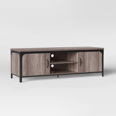 Jackman Industrial Wood TV Stand With Storage Brown - Threshold™ : Target