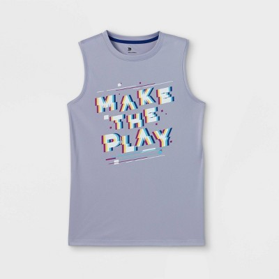 Boys' Sleeveless 'Make The Play' Graphic T-Shirt - All in Motion™ Lilac