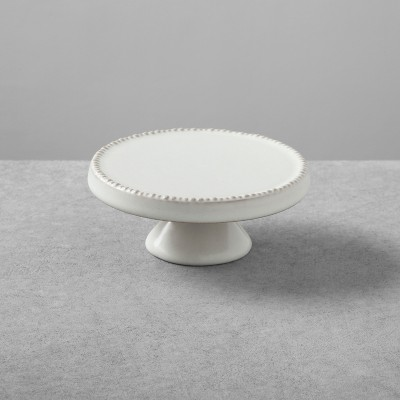 2pk Stoneware Cakestand Small Cream - Hearth & Hand™ with Magnolia