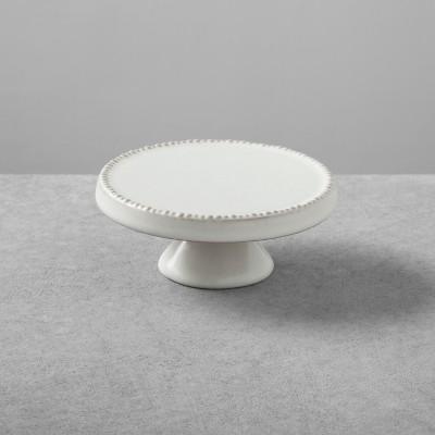 2pk Stoneware Cakestand Small Cream - Hearth & Hand™ with Magnolia