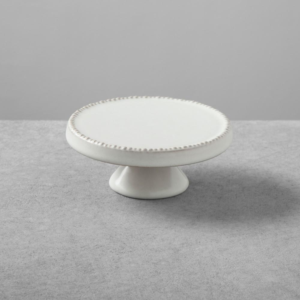 Image of 2pk Stoneware Cakestand Small Cream - Hearth & Hand with Magnolia