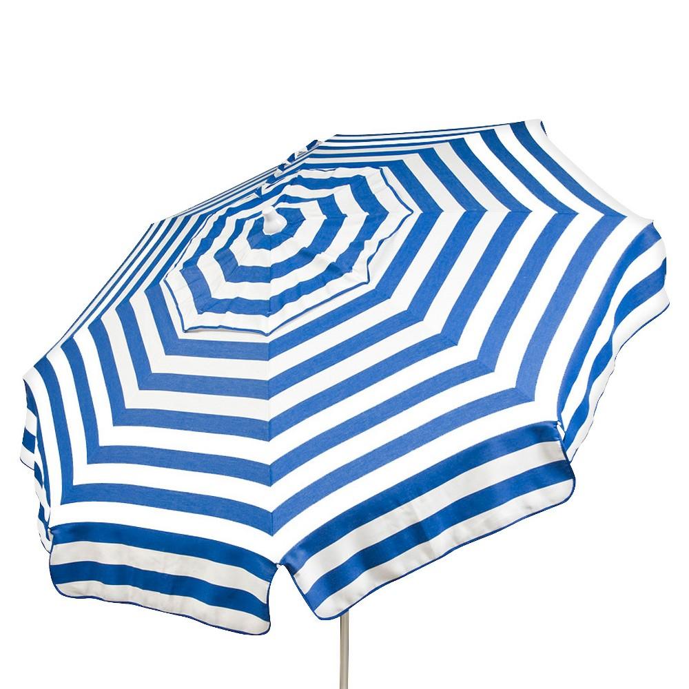 Image of 6' Italian Aluminum Collar Tilt Patio Umbrella - Parasol, Blue White