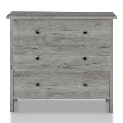 Cooyal 3 Drawer Dresser Vintage Gray - miBasics