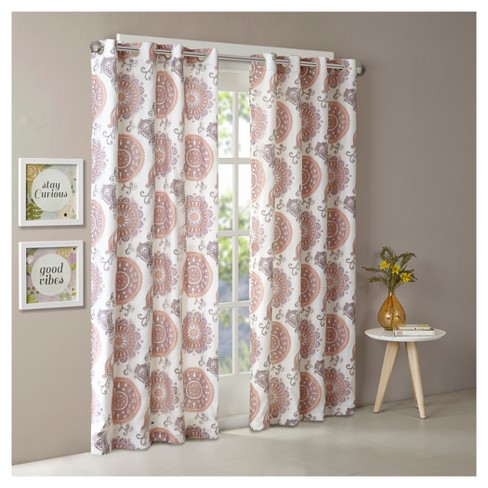 Adria Two Layer Printed Window Curtain Panel - image 1 of 6