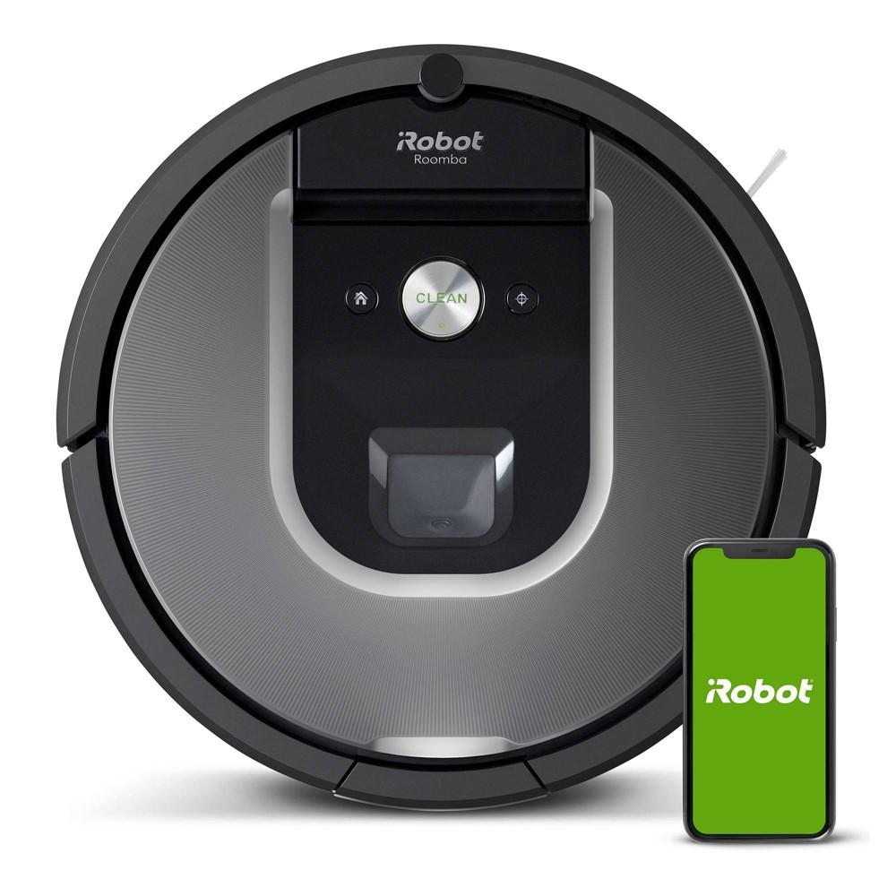 iRobot Roomba 960 Silver Robotic Vacuum Rubber | R960020