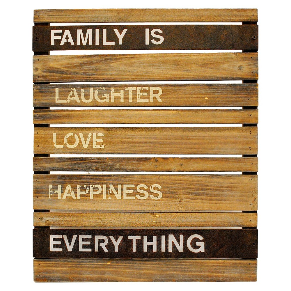 Family is.. Wood and Metal Planks Wall Hanging