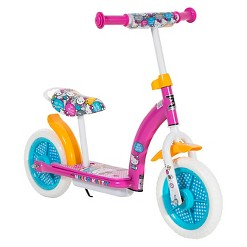 "Hello Kitty 2in1 Balance Bike and Scooter - Pink (10""), Kids Unisex"