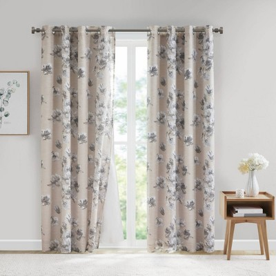 Calla Cotton Blackout Curtain Panel with Removable Liner