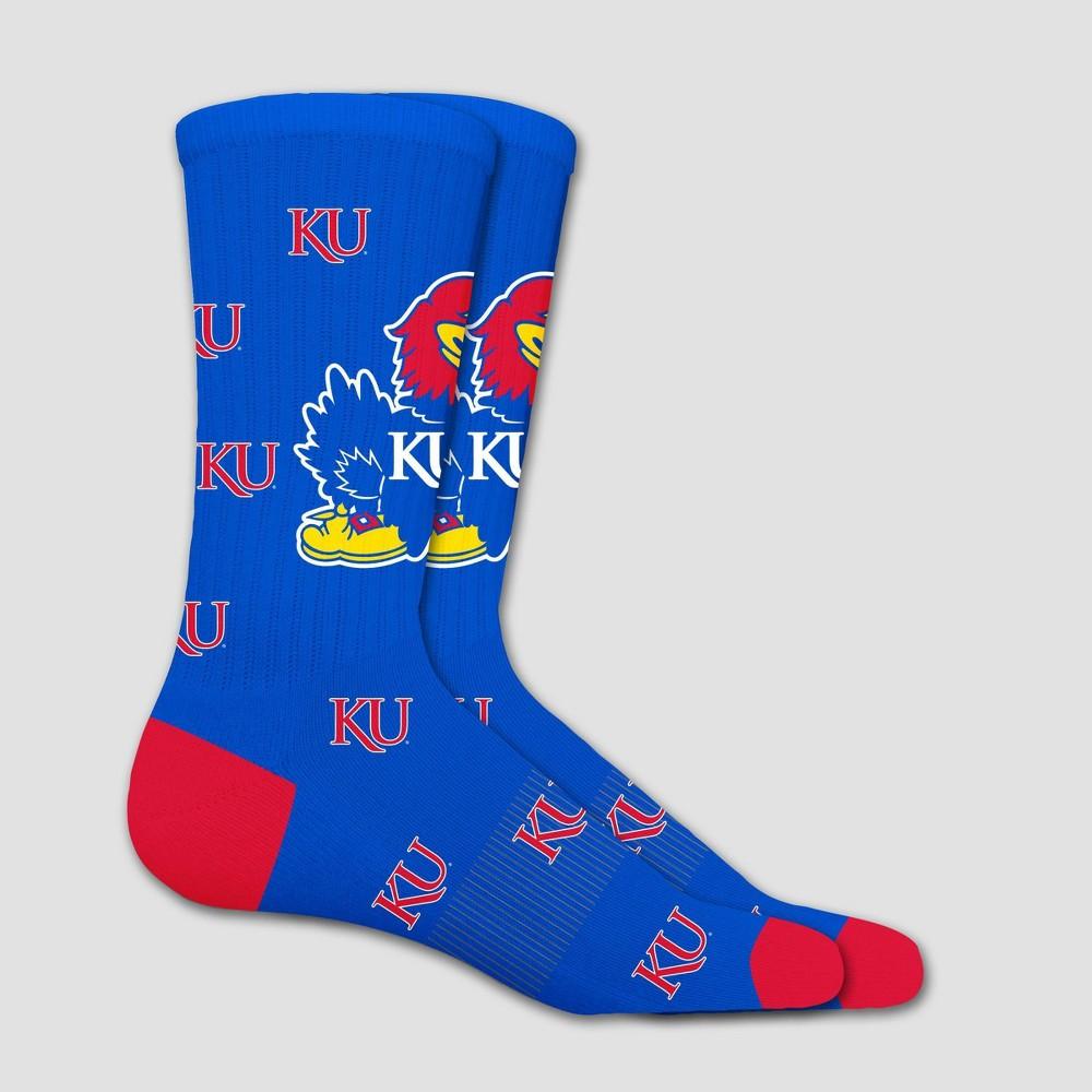 NCAA Kansas Jayhawks Sock Madness Crew 10-13, Adult Unisex