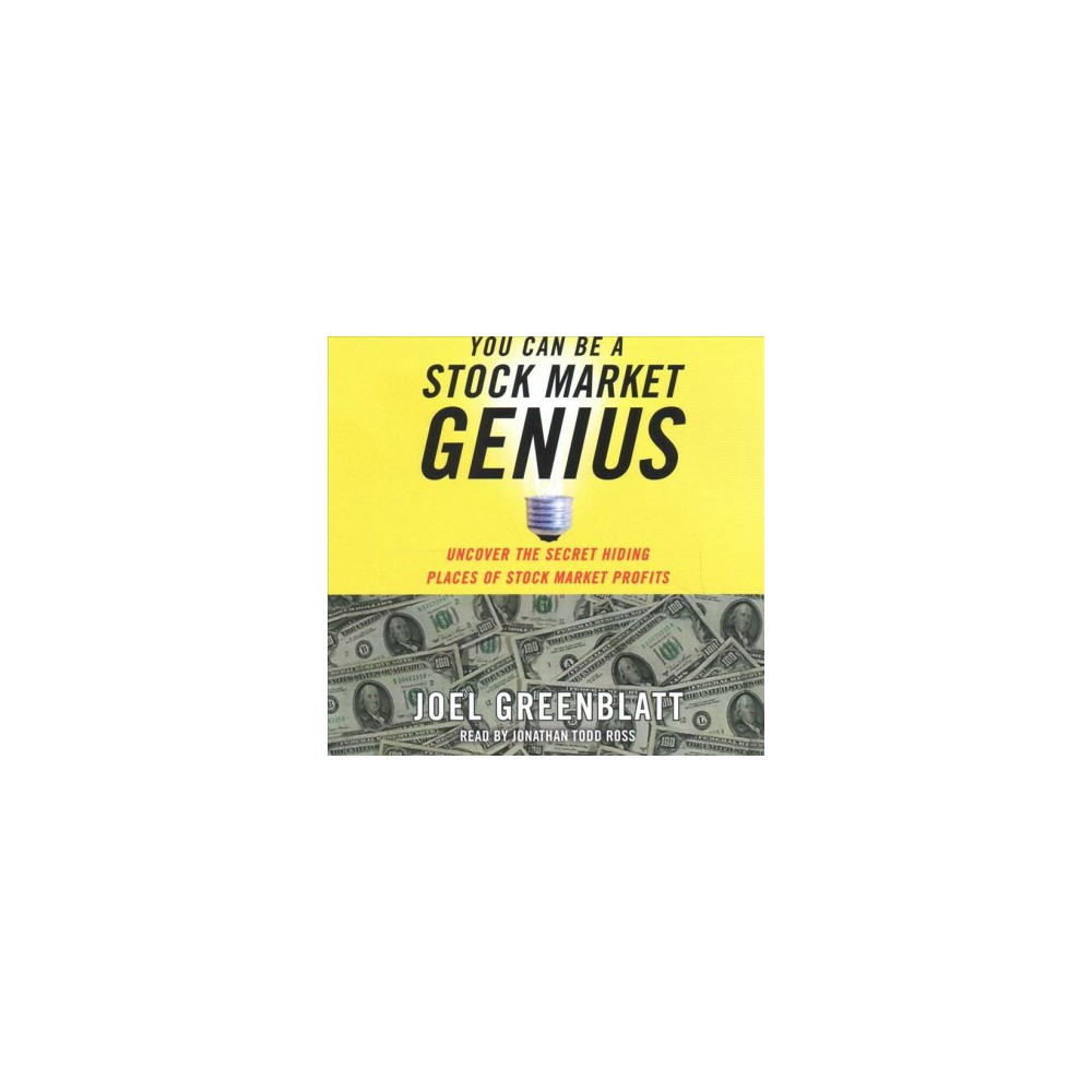 You Can Be a Stock Market Genius : Uncover the Secret Hiding Places of Stock Market Profits - Unabridged
