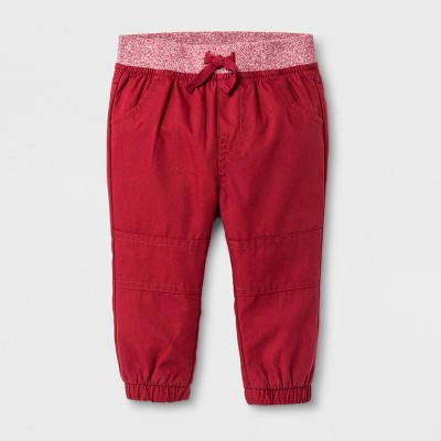 Baby Boys' Jogger Pants - Cat & Jack™ Red 0-3 M