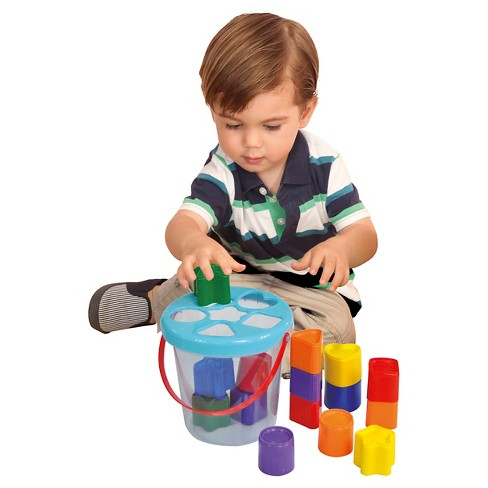 Pavlov'z Toyz Colorful Shape Sorting Bucket - image 1 of 2