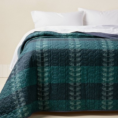 Printed Quilt Teal - Opalhouse™ designed with Jungalow™