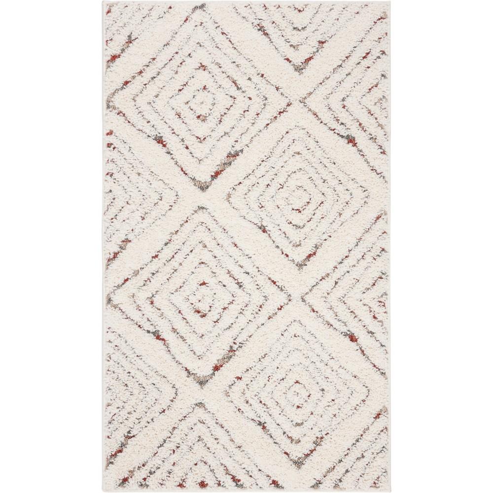 4'X6' Geometric Loomed Area Rug Cream - Safavieh, Beige