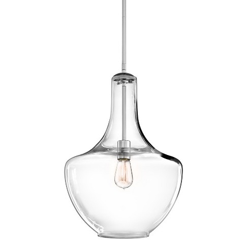 """Kichler 42046 Everly 14"""" Wide Single Pendant with Clear Glass Shade - image 1 of 4"""