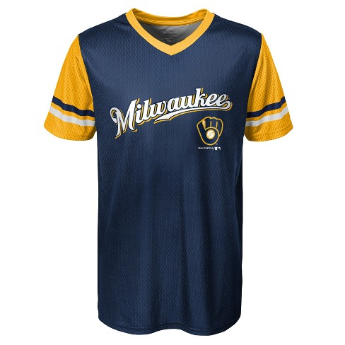 info for 70ca3 2d333 Milwaukee Brewers Boys' Homerun Sublimated Jersey - XS