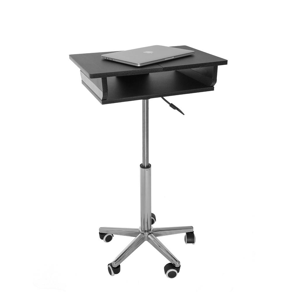 Folding Table Laptop Cart Graphite - Techni Mobili, Gray