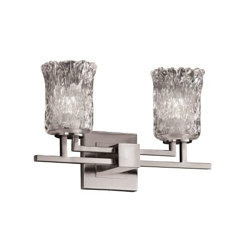 """Justice Design Group GLA-8702-16-CLRT Veneto Luce 4.5"""" Cylinder Bathroom Vanity Light - image 1 of 1"""