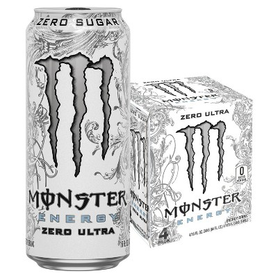 Monster Zero Ultra Energy Drink - 4pk/16 fl oz Cans
