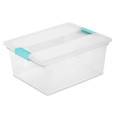 Deep Clip Storage Box Clear - Sterilite