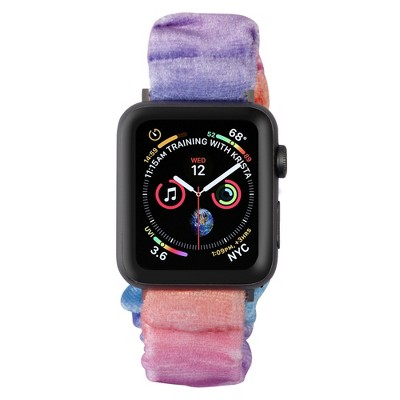 Insten Scrunchie Watch Band Compatible with Apple Watch Series SE 6 5 4 3 2 1 42mm 44mm, Elastic Fabric Wristband Strap, Fancy Bracelet,Multi Color