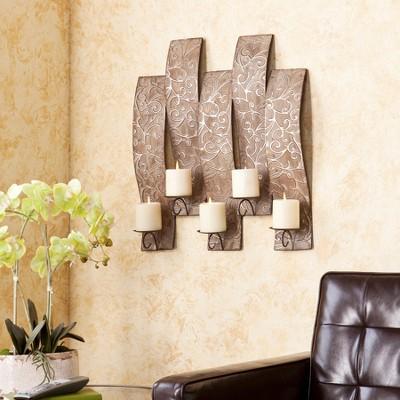 4-Votive Wall Candle Holder Light Brown - Southern Enterprises®