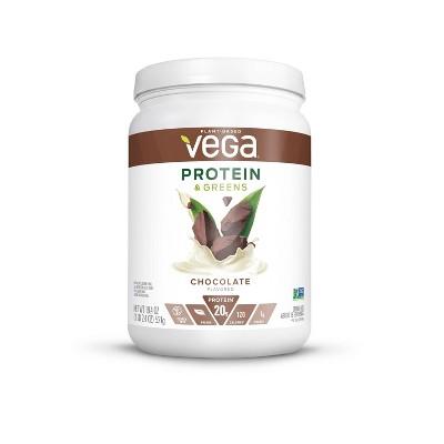 Vega Protein & Greens Vegan Protein Powder - Chocolate - 18.4oz