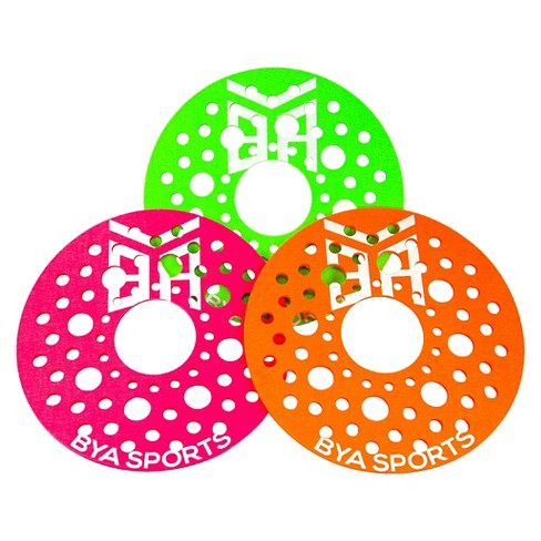 Flying Discs BYA Sports -Green Tangerine Pink - image 1 of 5