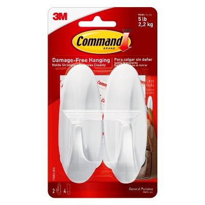 Command™ Large Designer Hooks Value Pack, 2/pk