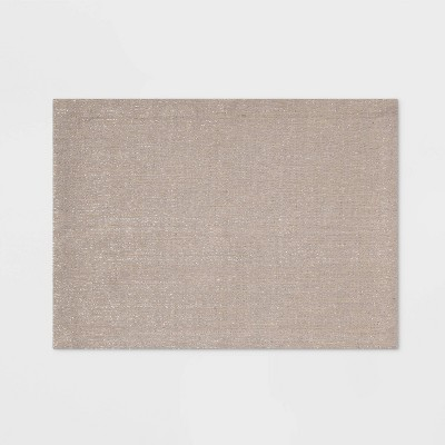 Lurex Woven Placemat Silver - Threshold™