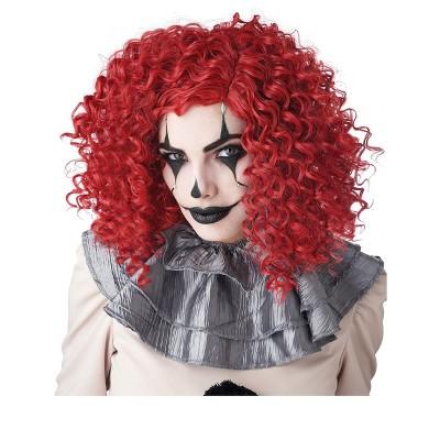 California Costumes Corkscrew Clown Curls Wig (Red)
