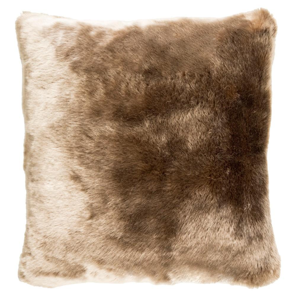 Tan Anselm Shag Throw Pillow (18x18