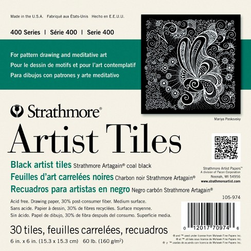 Strathmore Black Artist Tiles, 6 x 6 Inches, 60 lb, 30 Sheets - image 1 of 1
