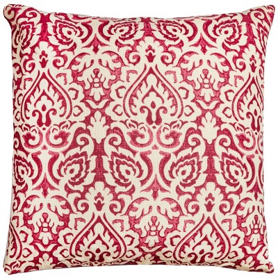 """22""""x22"""" Oversize Poly Filled Damask Square Throw Pillow - Rizzy Home"""