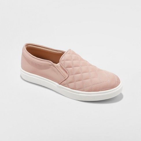 Women's Reese Quilted  Sneakers - A New Day™ Blush 9.5 - image 1 of 3